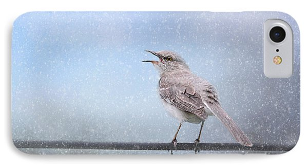 Mockingbird In The Snow IPhone Case by Jai Johnson