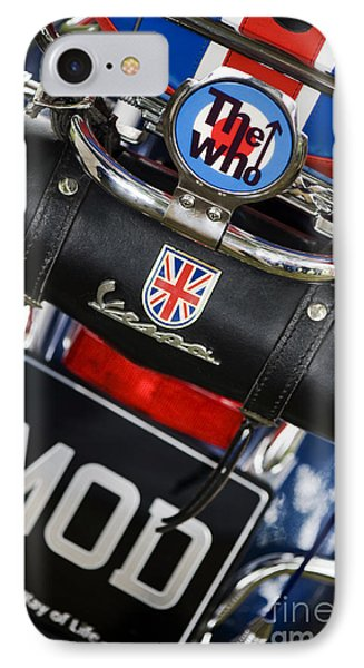 Mod Vespa IPhone Case by Tim Gainey