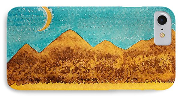 Mojave Moonrise Original Painting Phone Case by Sol Luckman