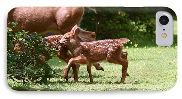 Mommy Is Here Time To Run Phone Case by Kym Backland
