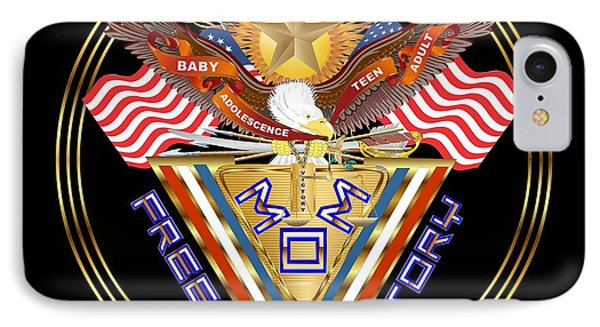 Moms Freedom Medal Throw Pillow IPhone Case by Bill Campitelle