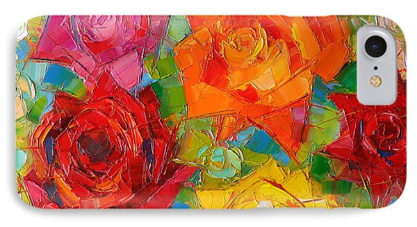 Mon Amour La Rose IPhone 7 Case by Mona Edulesco