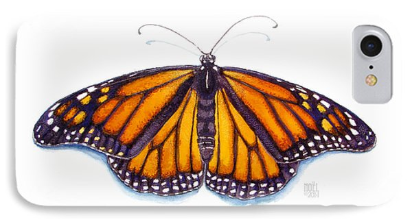 Monarch Butterfly IPhone Case by Catherine Noel