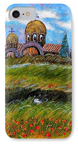 Monastery In Greece Phone Case by Ion vincent DAnu