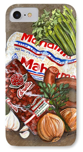 Monday's Tradition - Red Beans And Rice IPhone Case by Elaine Hodges