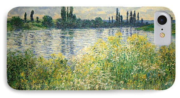 Monet's Banks Of The Seine At Vetheuil IPhone Case by Cora Wandel