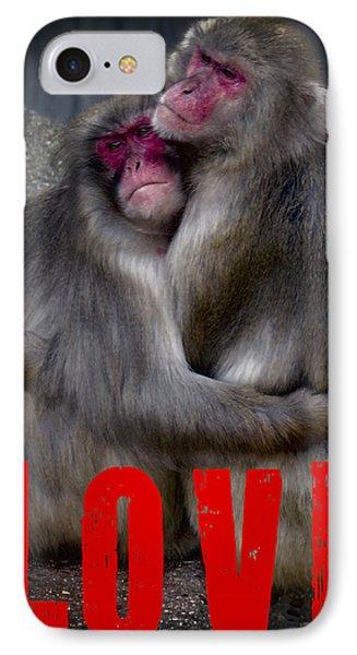 Monkey Love IPhone Case by Daniel Hagerman