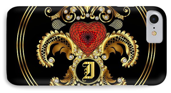 Monogram I Bf Throw Pillow IPhone Case by Bill Campitelle