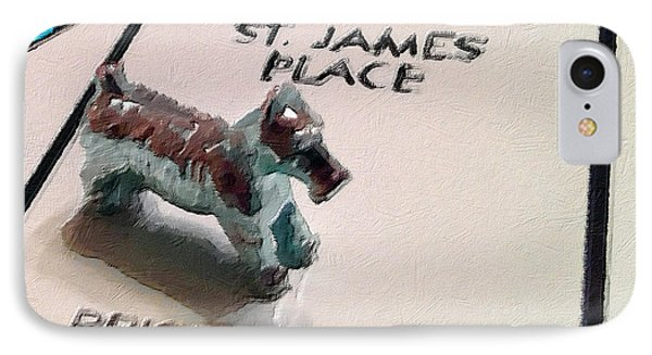 Monopoly Board Custom Painting St James Place IPhone Case by Tony Rubino