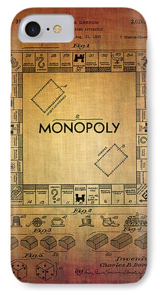Monopoly Board Game Apparatus From 1935  IPhone Case by Eti Reid