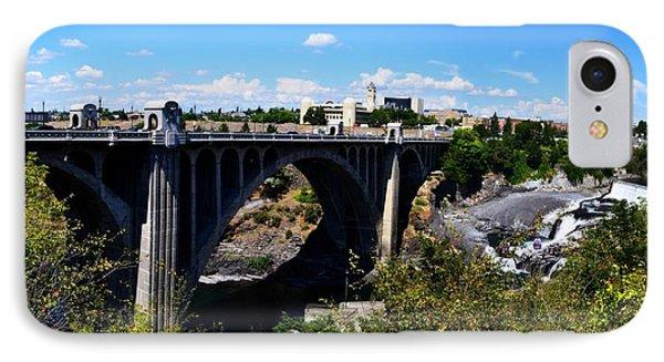 Monroe Street Bridge - Spokane Phone Case by Michelle Calkins