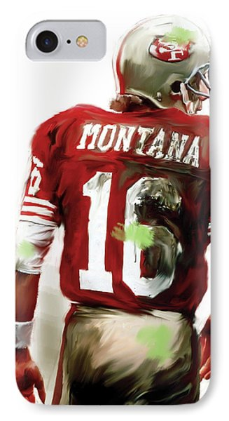 Montana II  Joe Montana IPhone Case by Iconic Images Art Gallery David Pucciarelli