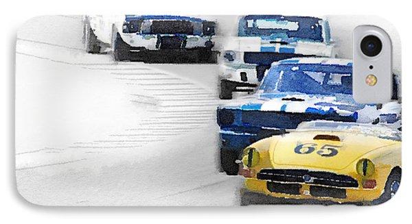 Monterey Racing Watercolor IPhone Case by Naxart Studio