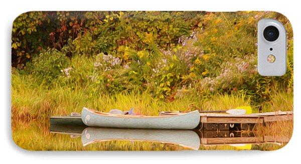 Montpelier Canoe Phone Case by Deborah Benoit