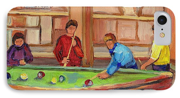 Montreal Pool Room Phone Case by Carole Spandau