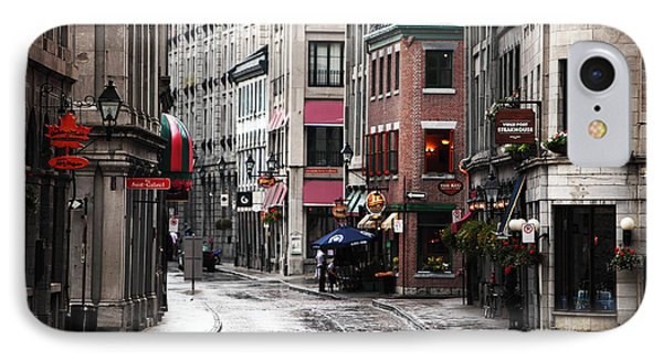 Montreal Street Scene IPhone Case by John Rizzuto
