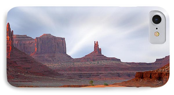 Monument Valley At Sunset Panoramic IPhone Case by Mike McGlothlen