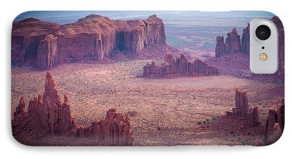 Monument Valley From Hunts Mesa IPhone Case by Inge Johnsson