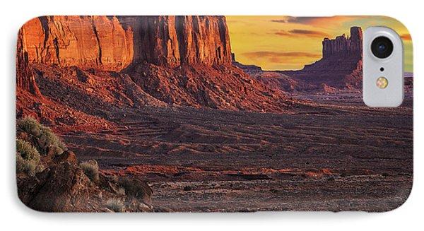 Monument Valley Sunrise Phone Case by Priscilla Burgers