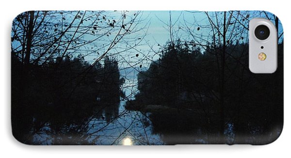 Moon Over Mill Creek By Steve Strand IPhone Case by Patricia Strand