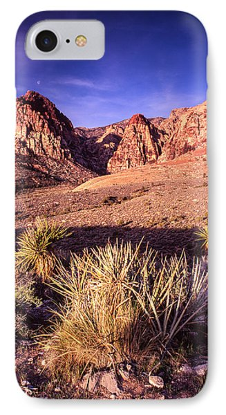 Moon Over Red Rock Canyon IPhone Case by Silvio Ligutti