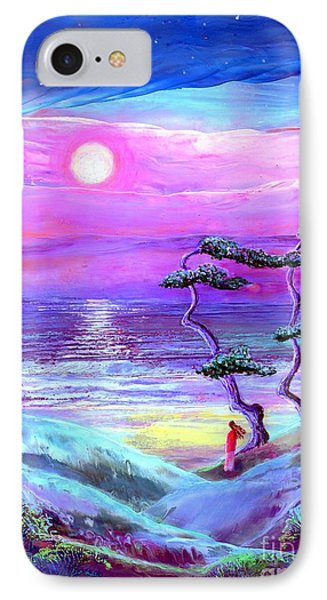 Moon Pathway,seascape IPhone Case by Jane Small