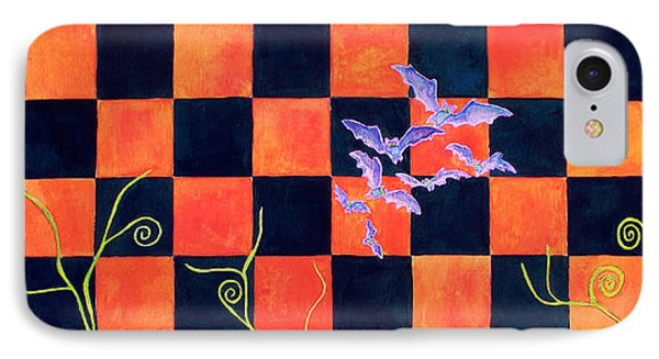 Flight Of The Moon Witch Checkerboard Phone Case by Janet Immordino
