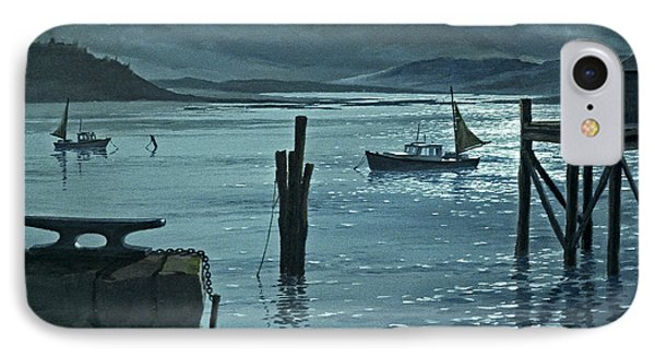Moonlight On The Harbor IPhone Case by Paul Krapf