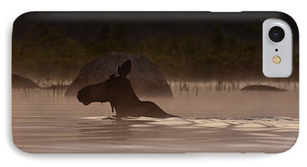 Moose Swim IPhone 7 Case by Brent L Ander