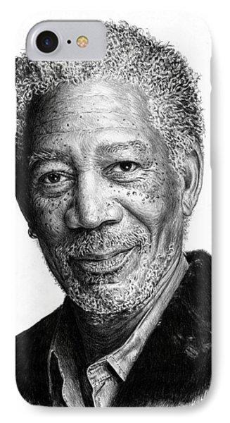 Morgan Freeman IPhone Case by Andrew Read