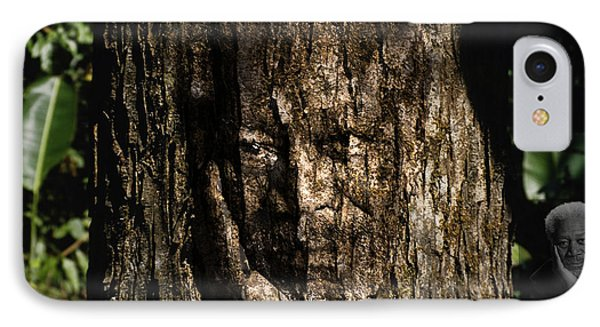 Morgan Freeman Roots Digital Painting Phone Case by Georgeta Blanaru