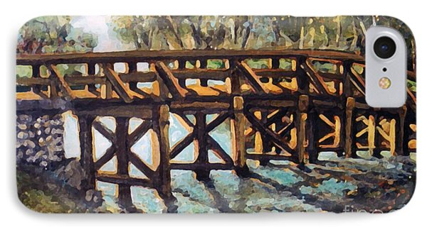Morning At The Old North Bridge IPhone Case by Rita Brown
