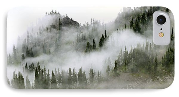 Morning Mist In Olympic National Park IPhone Case by King Wu