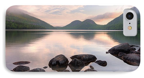 Morning Mist On Jordan Pond, Acadia IPhone Case by Panoramic Images