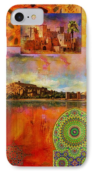 Morocco Heritage Poster Phone Case by Catf
