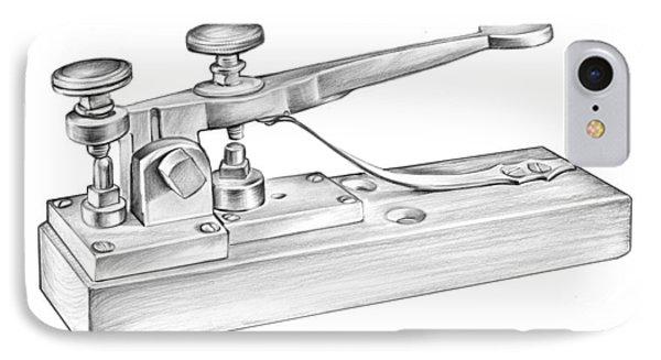 Morse Telegraph IPhone Case by Greg Joens