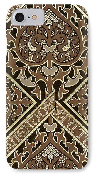 Mosaic Ecclesiastical Wallpaper Design IPhone Case by Augustus Welby Pugin