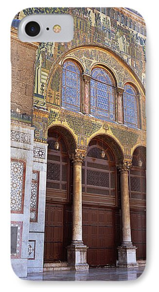 Mosaic Facade Of A Mosque, Umayyad IPhone Case by Panoramic Images