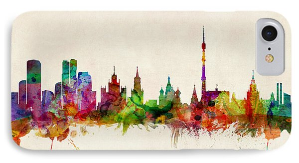 Moscow Skyline IPhone Case by Michael Tompsett