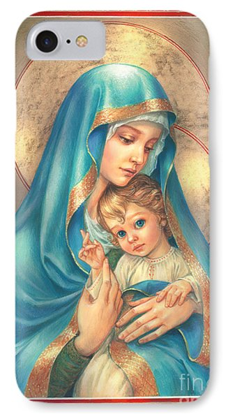 Mother Of God IPhone Case by Zorina Baldescu