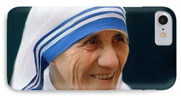Mother Teresa IPhone Case by Paul Tagliamonte