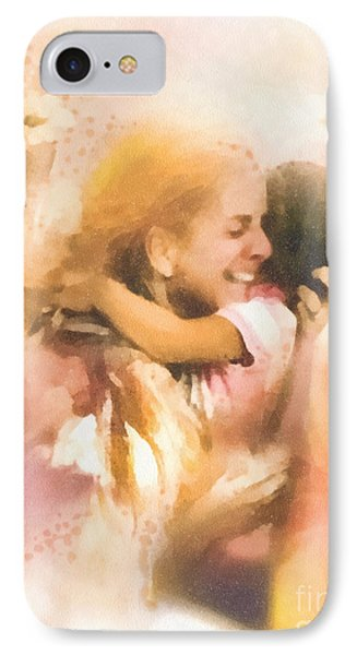 Mother's Arms IPhone Case by Mo T