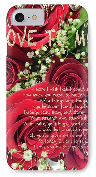 Mothers Day Card Phone Case by Debra     Vatalaro