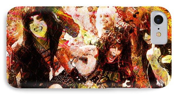Motley Crue Original Painting Print IPhone Case by Ryan Rock Artist
