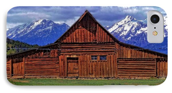 Moulton Barn In Spring IPhone Case by Dan Sproul