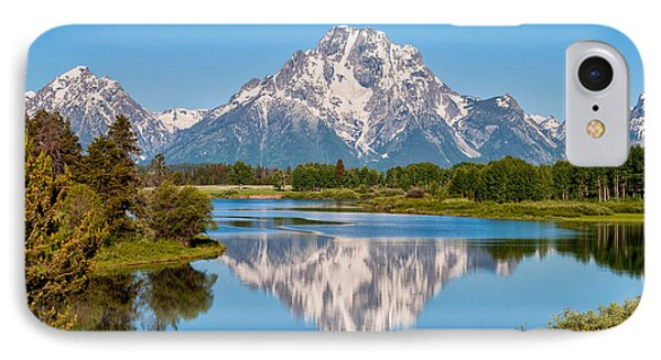 Mount Moran On Snake River Landscape Phone Case by Brian Harig
