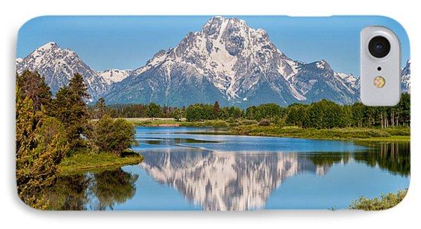 Mount Moran On Snake River Landscape IPhone 7 Case by Brian Harig