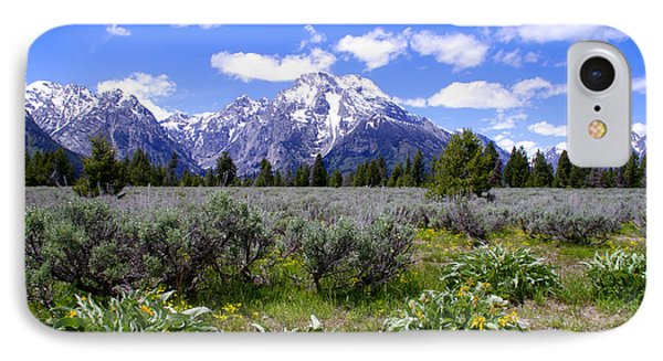 Mount Moran Wildflowers Phone Case by Brian Harig