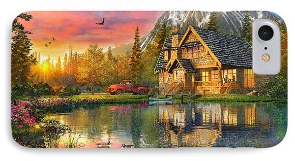 Mountain Cabin IPhone Case by Dominic Davison