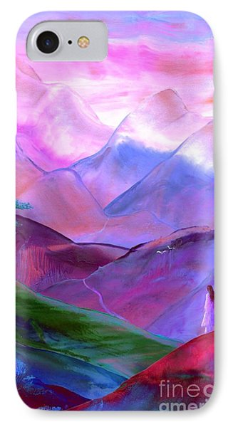 Mountain Reverence IPhone Case by Jane Small